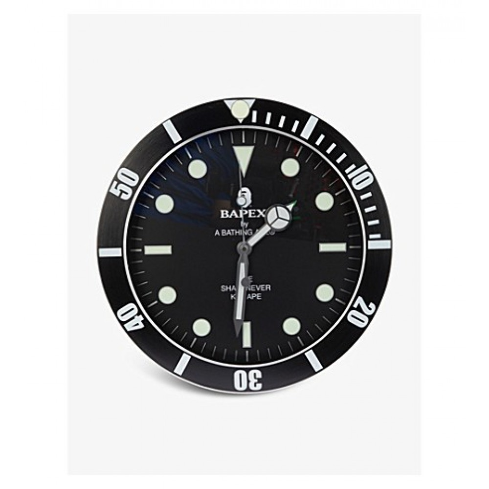 BAPE Bapex branded metallic wall clock Black