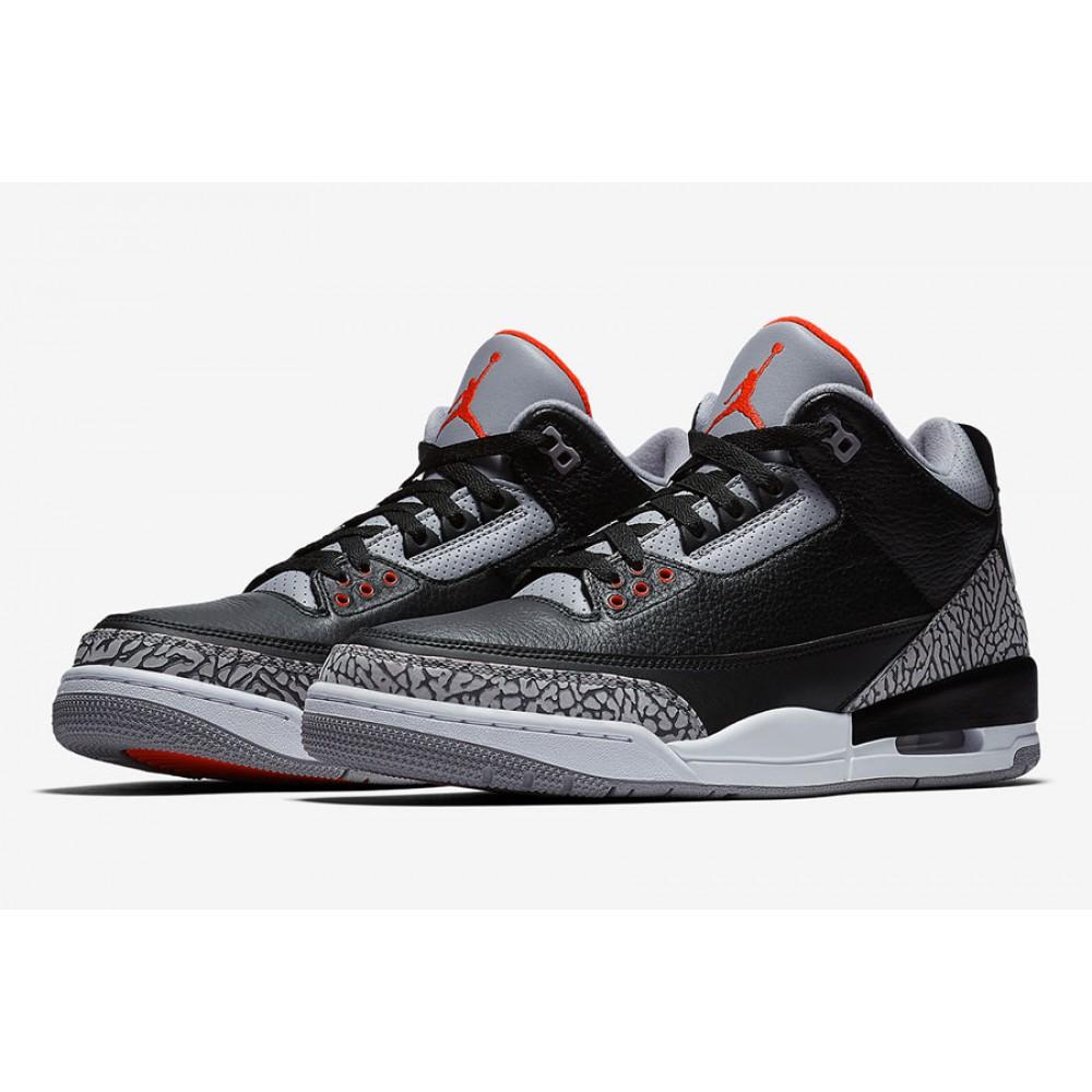 Nike Air Jordan 3 Retro Black Cement (2018) 854262-001