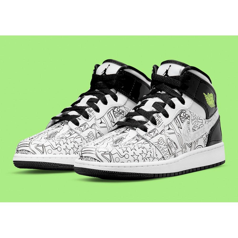 Nike Air Jordan 1 Mid SE DIY (GS) DC4099-100